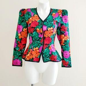 VTG Premier Silk Floral Blazer